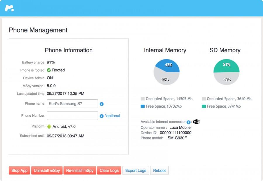 Phone-management advanced mspy